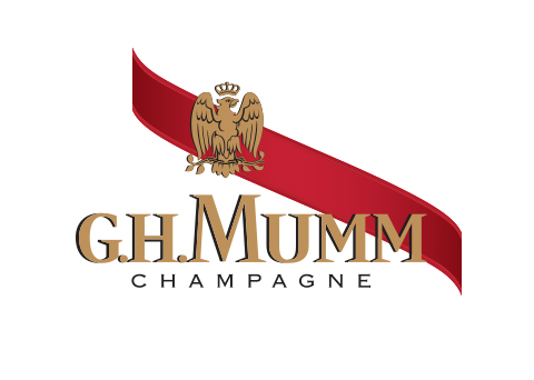 Cordon rouge sash is introduced on G.H. Mumm's Cuvée Brut logo